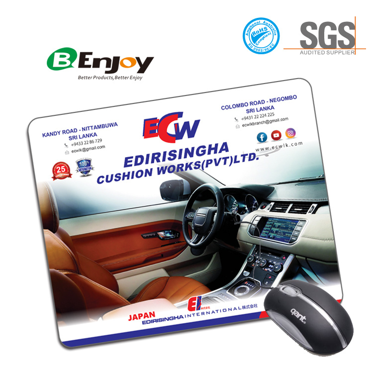 Hot Selling Promotional Gifts Custom Rubber Mousepad