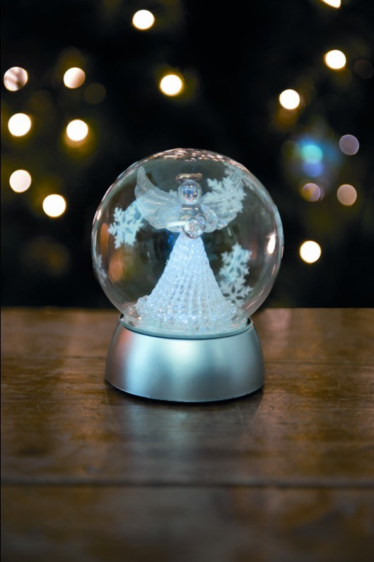 2013 New LED Christmas Decoration Glass Angel Bauble