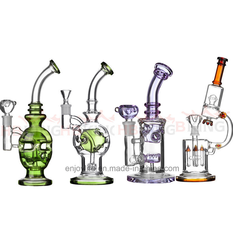 Hb King 2017 New Arrival Colorful Oil Rig Beaker Base Glass Water Pipe Recycler Pipes Glass Smoking Pipe Shipping Guarantee