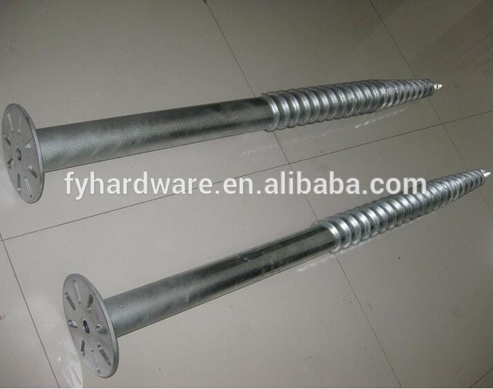 Factory Hot Dipped Galvanized Ground Screw Pile
