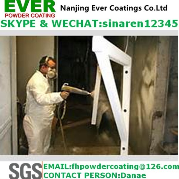 White Ral9016 Powder Coating Electrostatic Spray