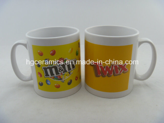 10oz Decal Printed Mug, 10oz Durham Mug Promotional Ceramic Mug