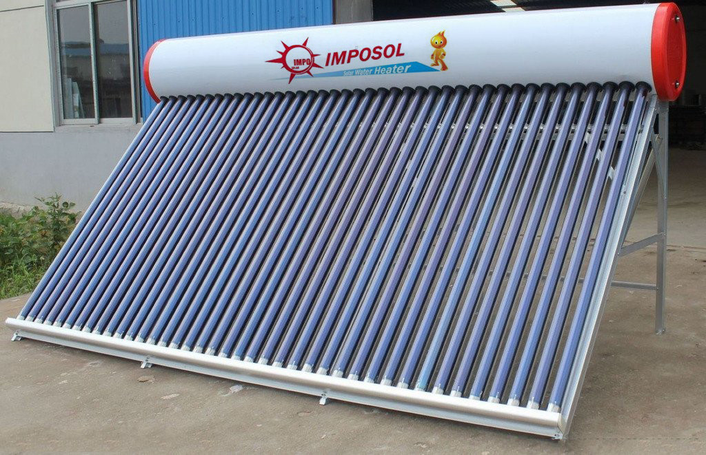 Compact Non-Pressure Solar Energy Water Heater for Home