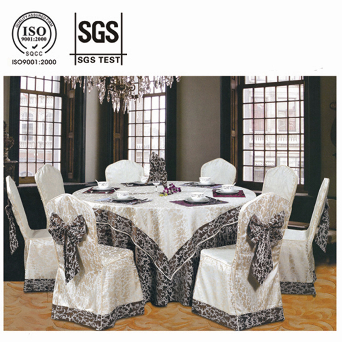 Classy Jacquard Dining Room Chair Cover YT 1010