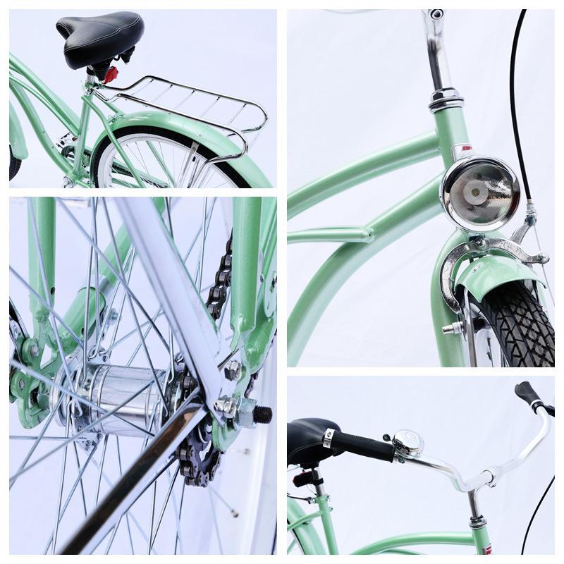 Cane Basket Carrier Hi-Ten Coaster Brake 26 Inch Beach Cruiser Bike for Lady (ARS-2684S-2)