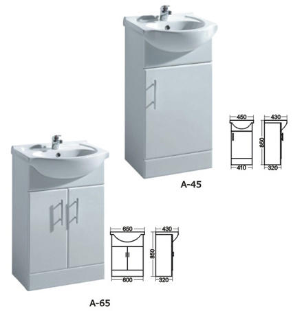 MDF Bathroom Furniture with Good Quality, Sanitary Ware with Bathroom Mirrors