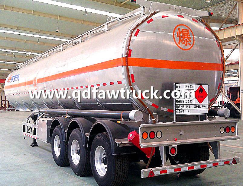 Adr/DOT Certificate Oil Tanker Trailer, Aluminium tank trailer