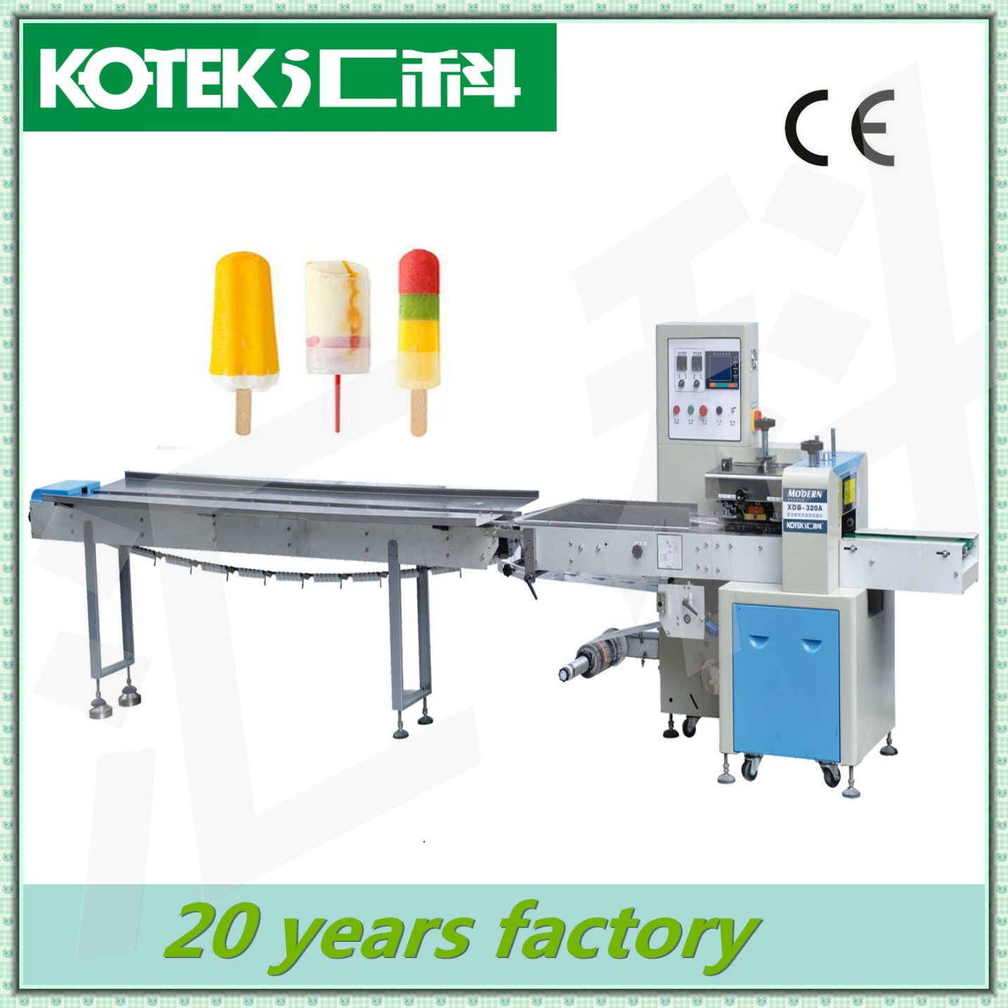 Horizontal Automatic Flow Ice Cream Stick Packing Machine