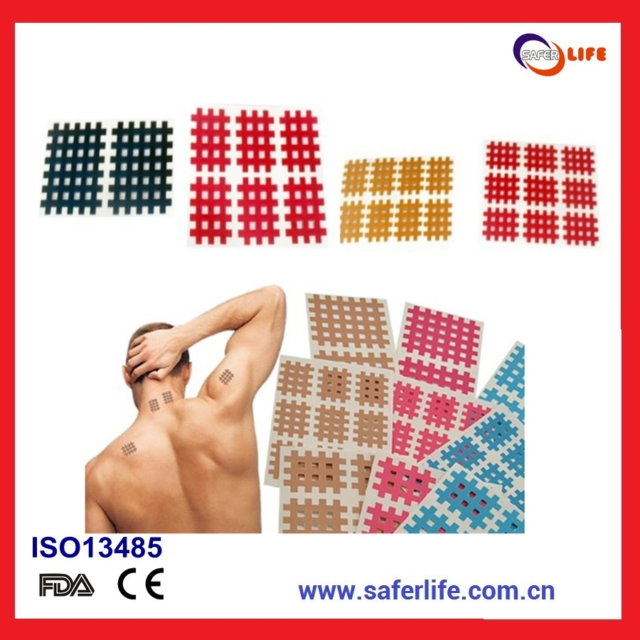 2014 Tearable Medical Acupuncture X Pain Bandage Cross Tape Cross Kinesiology Tape Original Spiral Tape Acupuncture Tape
