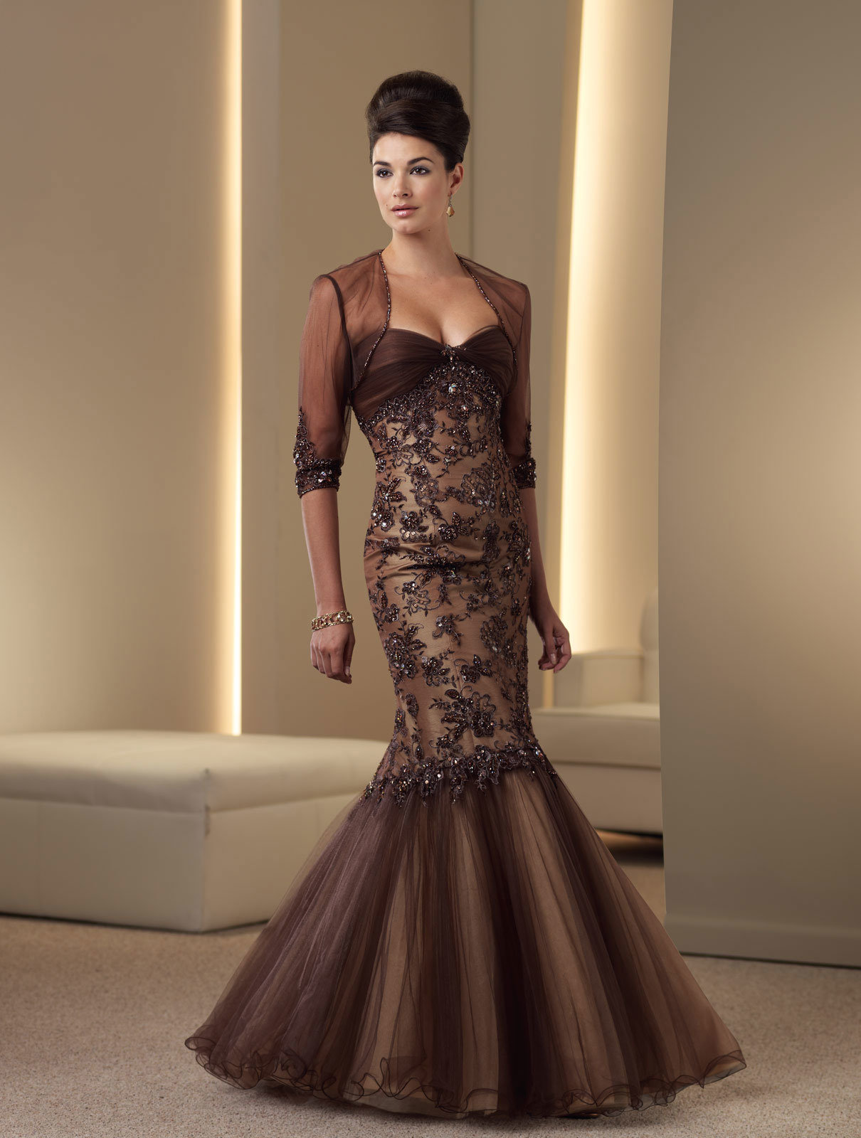China mother of the bride dress evening gown 8751 china for Wedding mother of the bride dresses