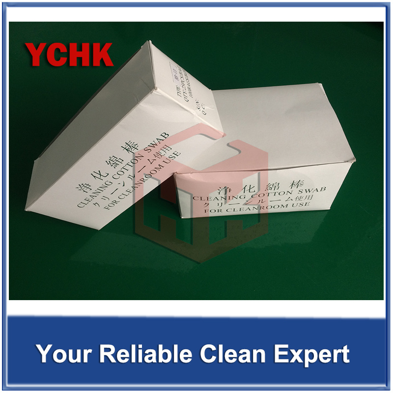 Cleanroom Products Cleaning Swabs Industrial Single End Disposable Wood Long Stick Cotton Swab