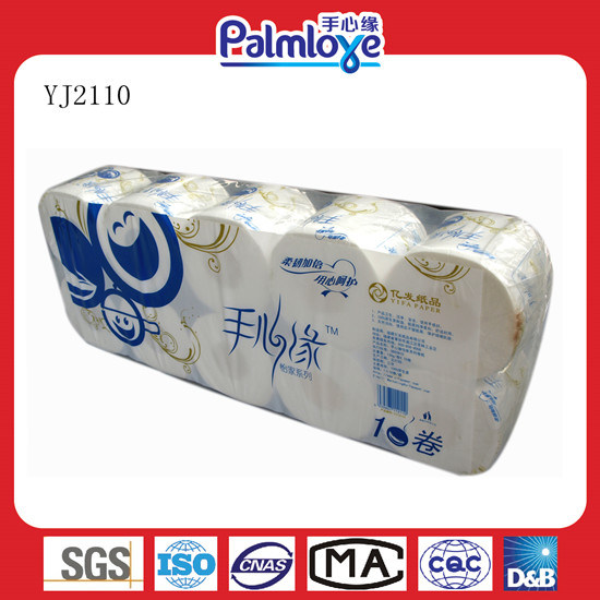 Hot Sale Soft and White Toilet Tissue (YJ-2110)