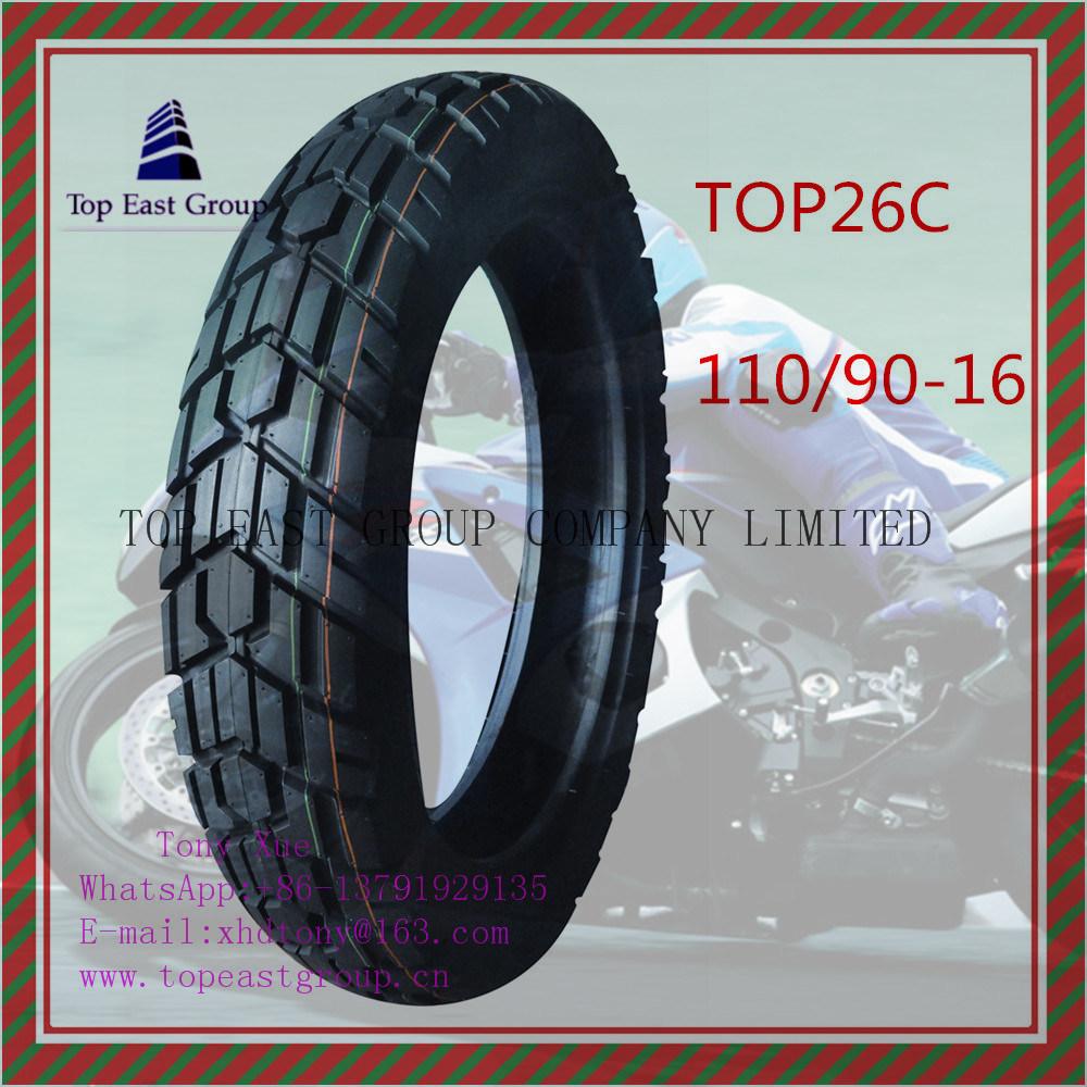 110/90-16 Tubeless, Long Life 6pr Nylon Motorcycle Tyre