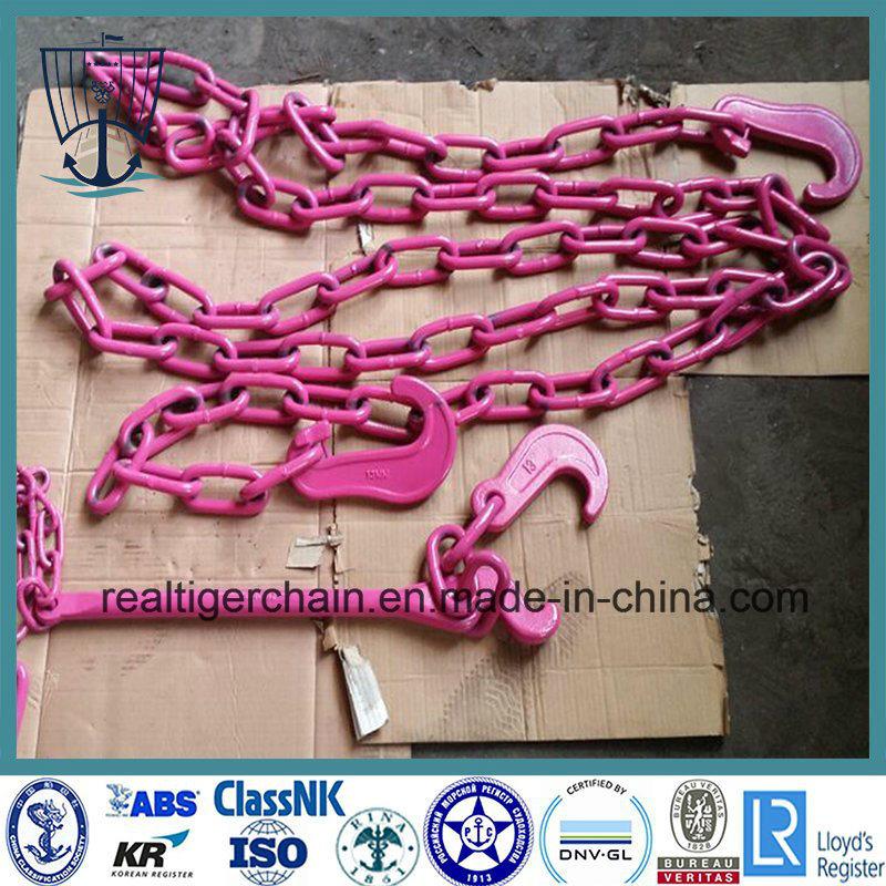 G80 Lashing Chain/ Cargo Binding Chain with Hooks