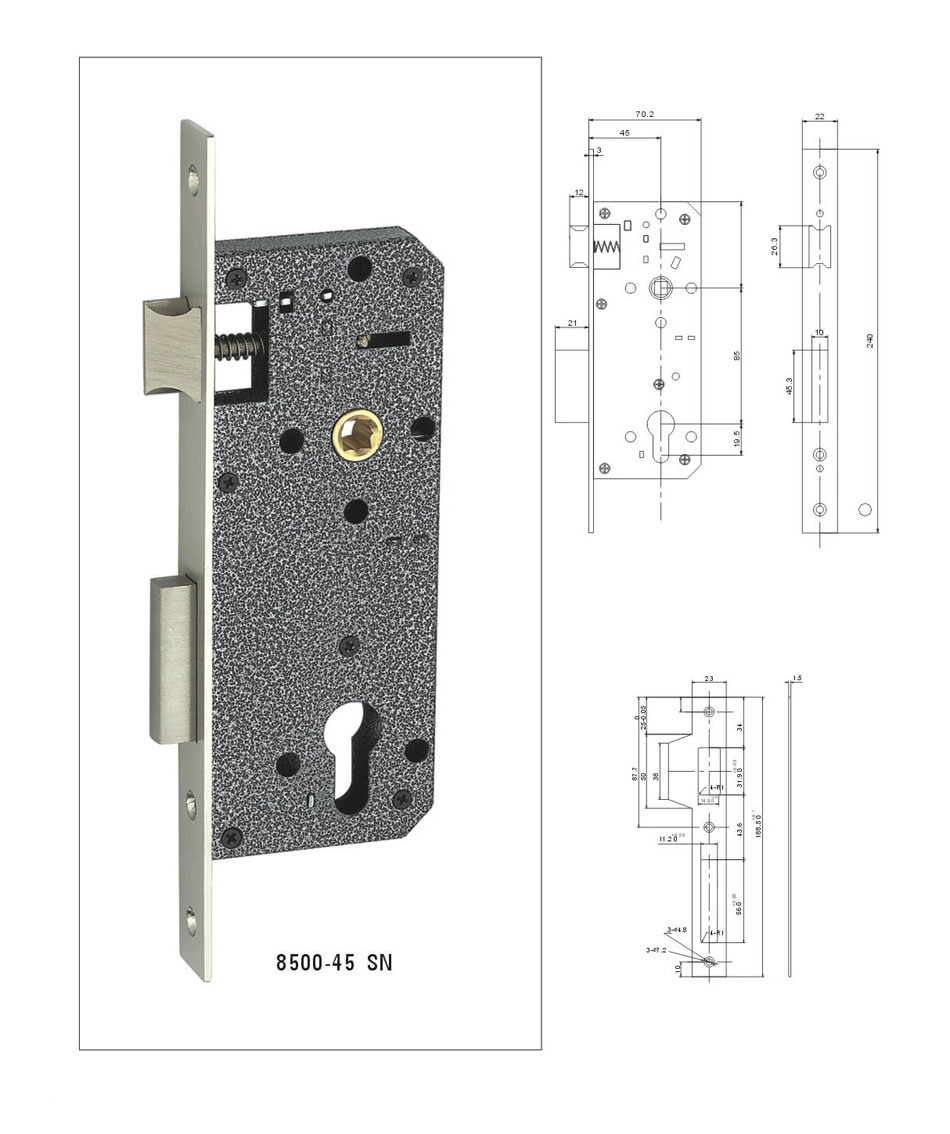 High Security Door Lock Cylinder, Mortise Lock Cylinder