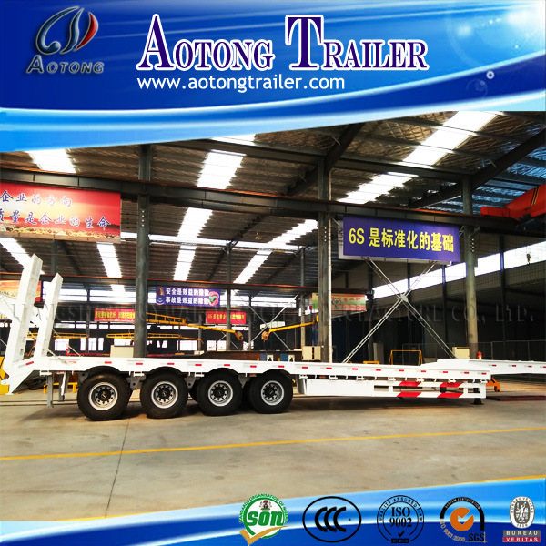 Hydraulic Ladder Low Boy Semi Trailer
