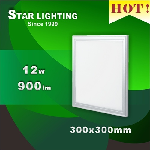 Small Square Indoor SMD 12W Aluminum Plastic LED Panel Light