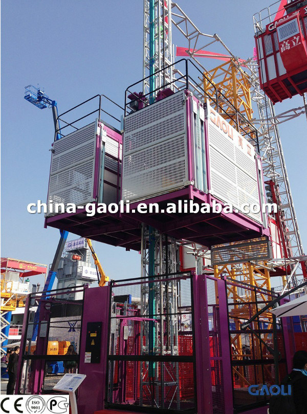 Widely Used Double Cages Building Elevator Sc 320/320