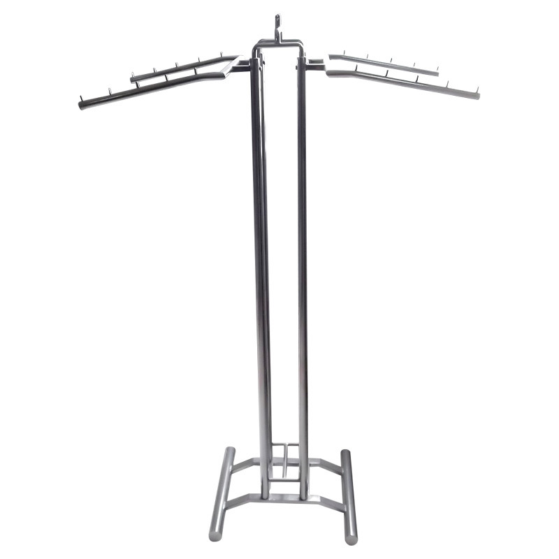 Chrome Garment Rack with 4 Hangers
