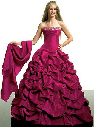 Wine Red Bridesmaid Prom Dress RS201