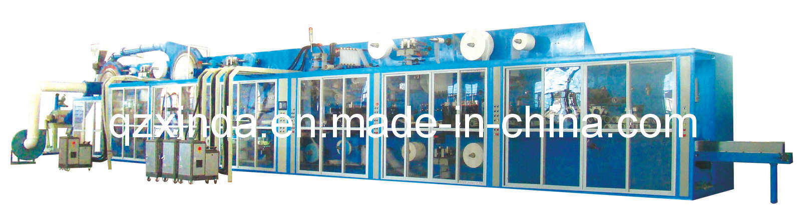 Semi-Servo Baby Diaper Machine (400 PCS/min) (CIL-BD-400C)