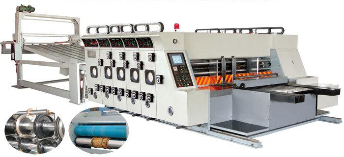 Flexo Printer Slotter Die Cutting with Stacker Machine