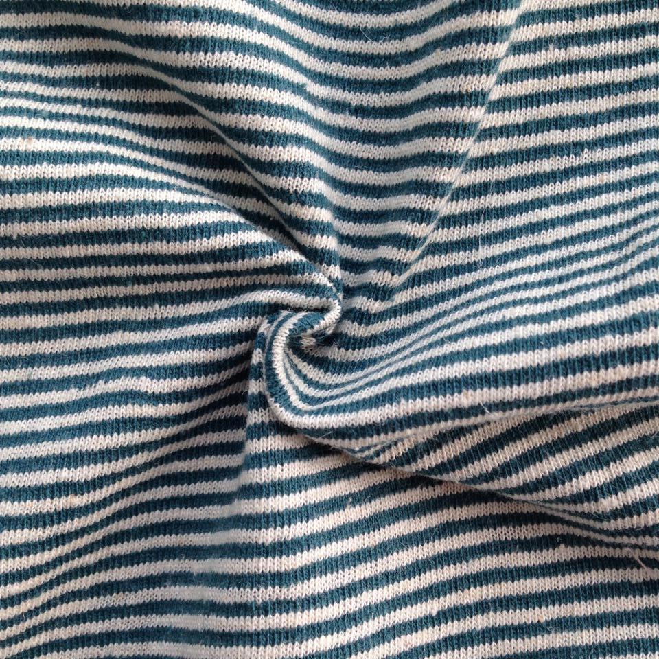 Hemp/Cotton Yarn Dyed Stripe Jersey (QF14-1462)