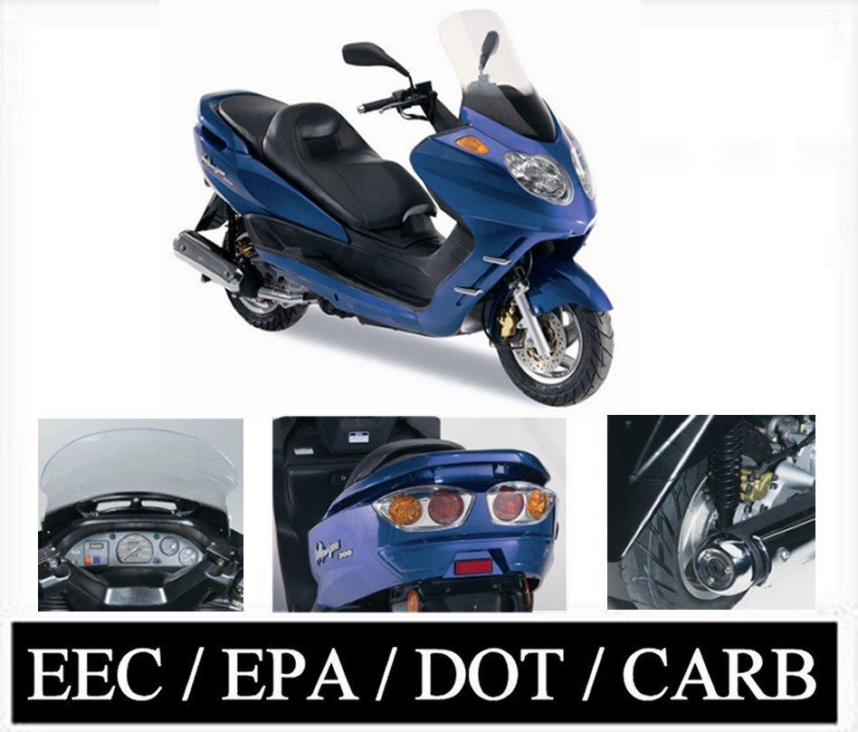 China 2008 Model European Design 300cc Scooter Eec Epa