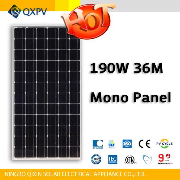 36V 190W Mono Solar Panel (SL190TU-36M)