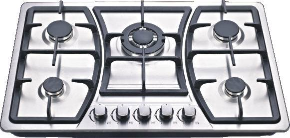 Sabaf 5 Burner Stainless Steel Gas Stove
