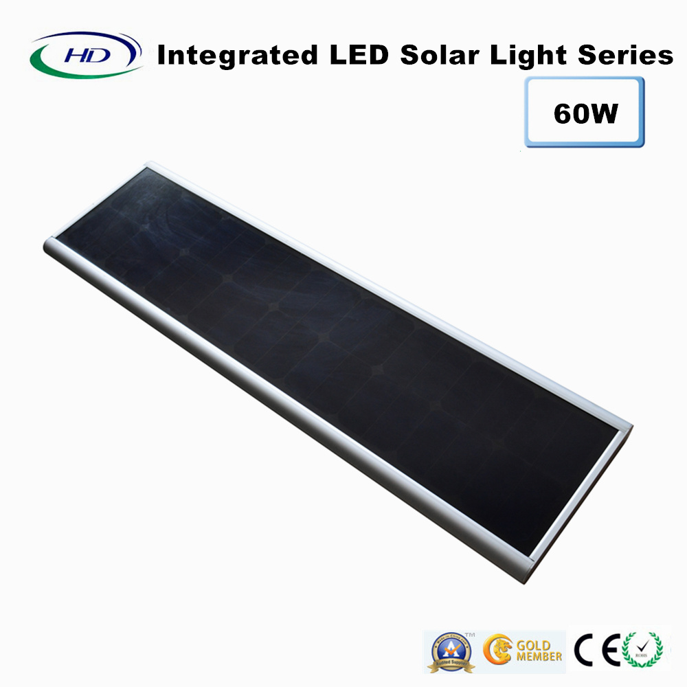 60W PIR Sensor Integrated LED Solar Street Light