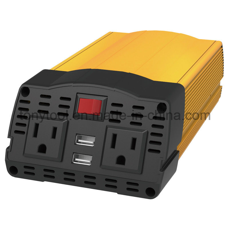 375W Metal Housing DC to AC Power Inverter