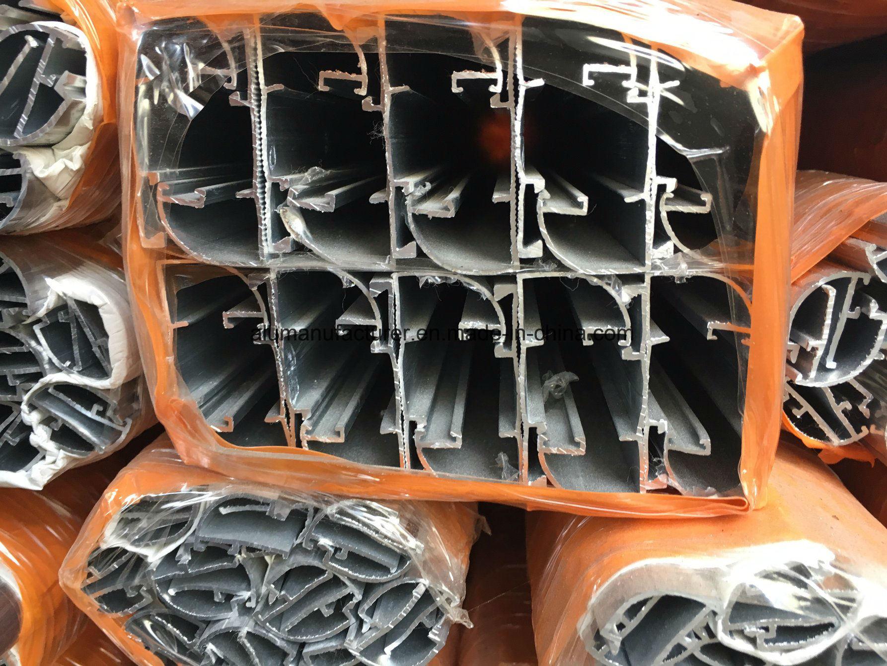 Iraq Glass Clip Aluminium Alloy Extrusion Profile for Door and Window (02 Series)