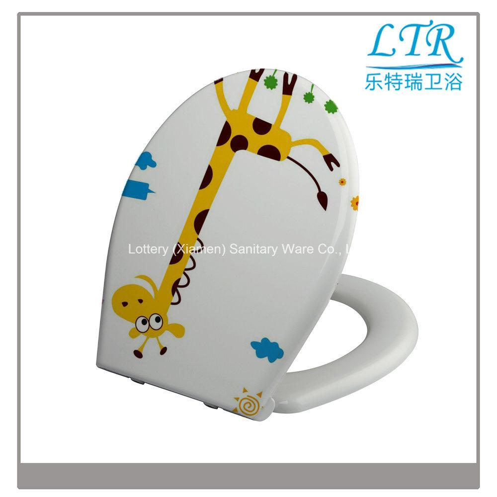 Slow Close Beautiful Design Sanitary Toilet Seat with Giraffe Pattern