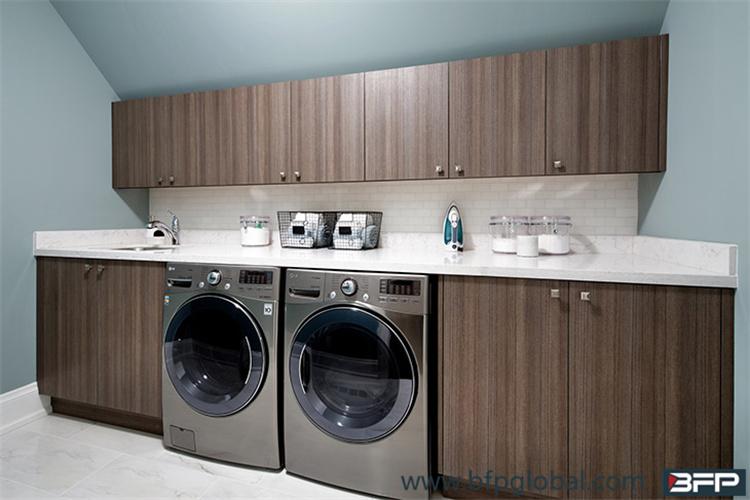America Style Bathroom Vanity with Washing Mechine Base for Customized