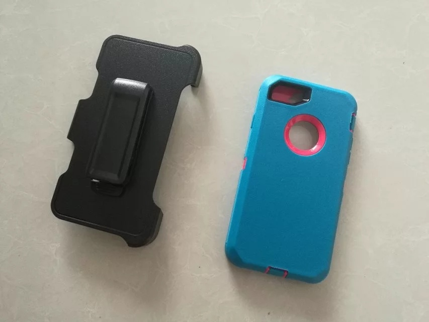 3 Layer Protective Defender Phone Case for iPhone7/6/5 with Belt Clip Hoster