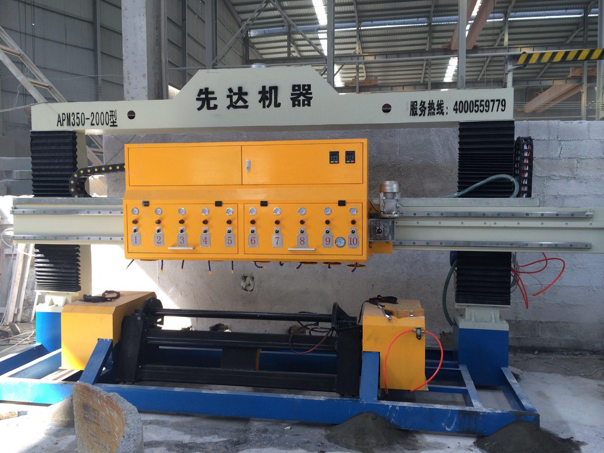 Apm-350-2000-12 Mable Granite Stone Polishing Grinder Machinery