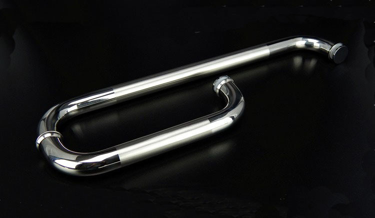 Mat+Chrome Color Shower Pull Stainless Steel Handle