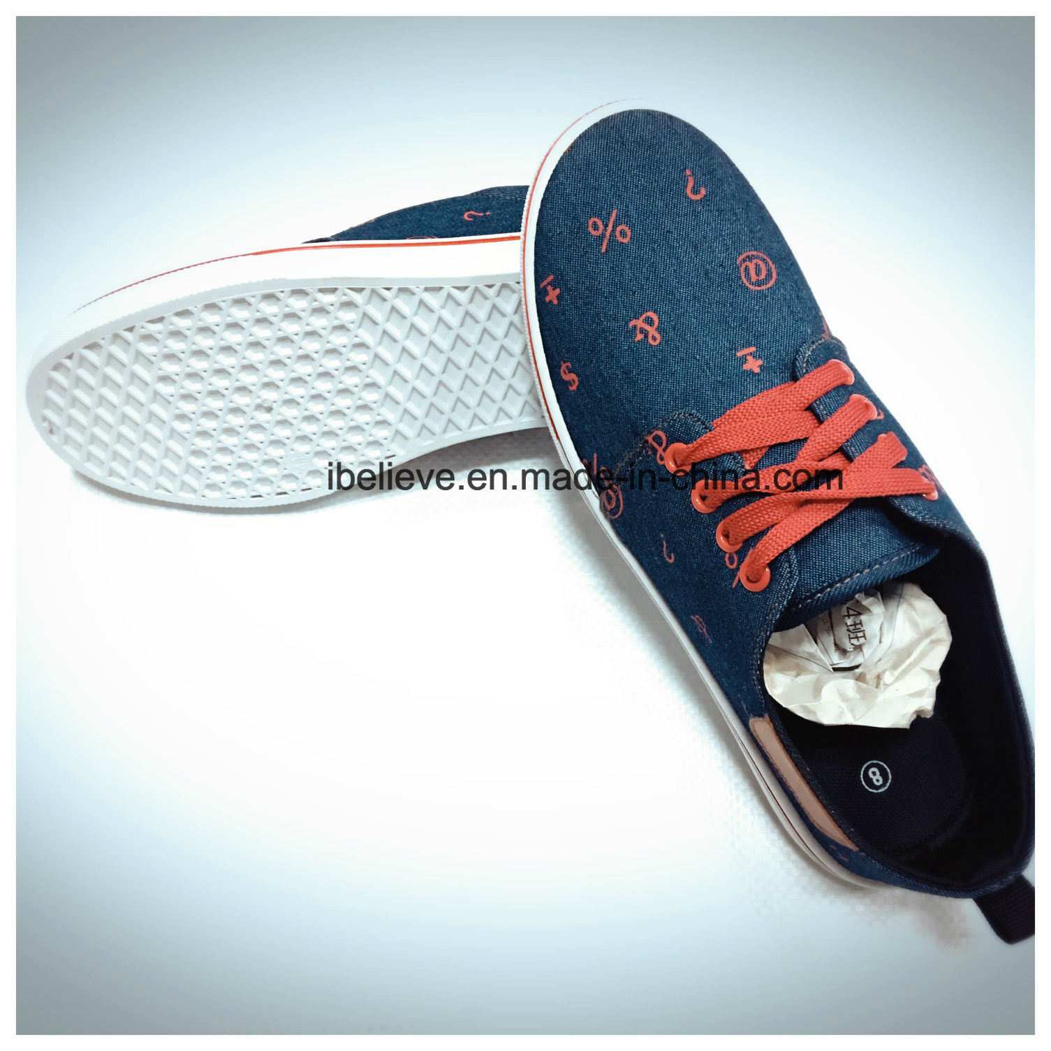 PVC Outsole Flat Shoe with Low Price with Good Quality