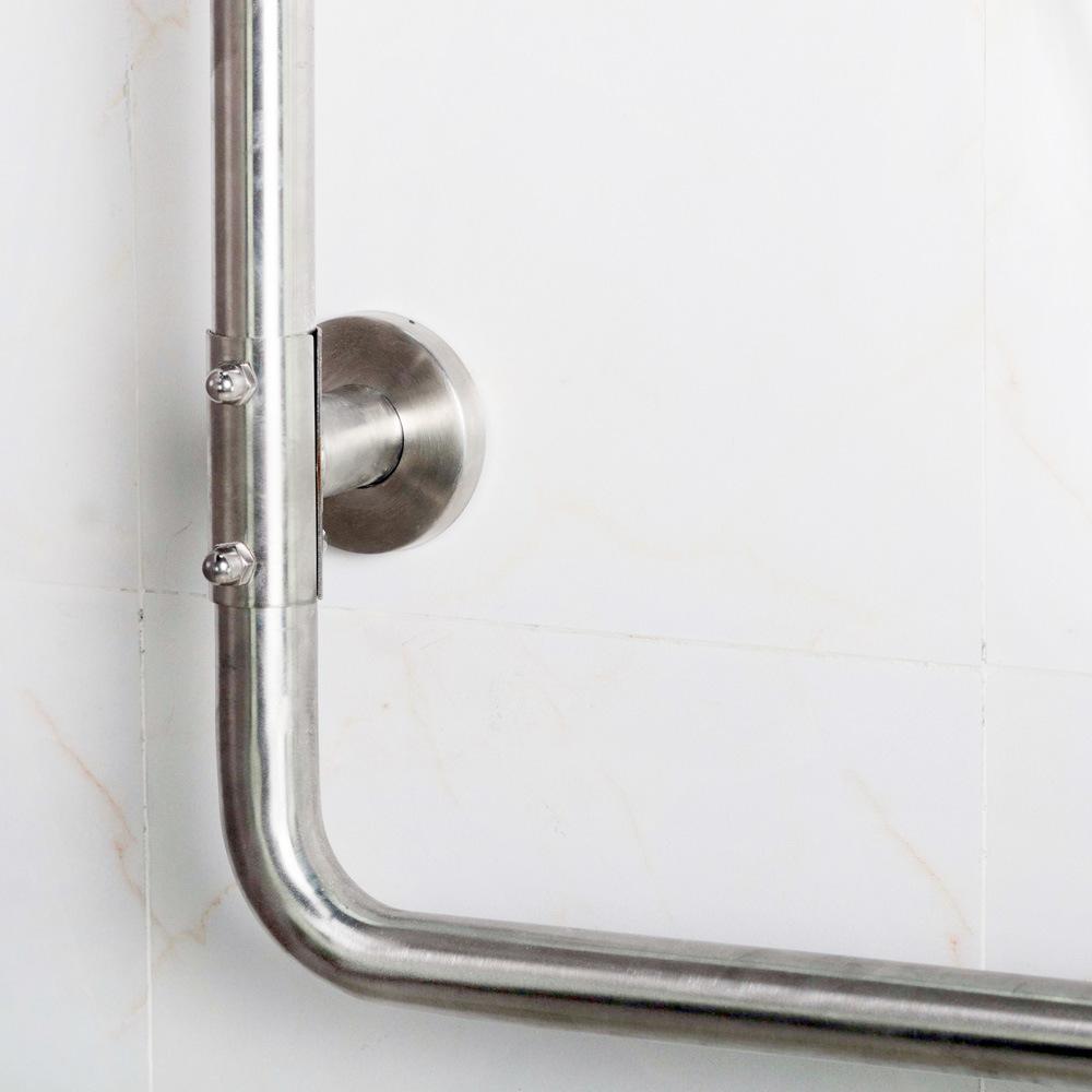 Stainless Steel L-Shape Grab Bars for Bathroom
