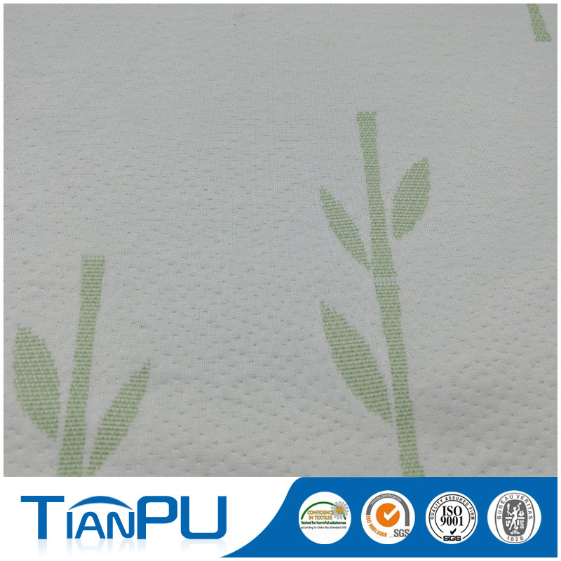 Bamboo Customized Logo Jacquard Mattress Ticking Fabric for Foam Mattress Surface