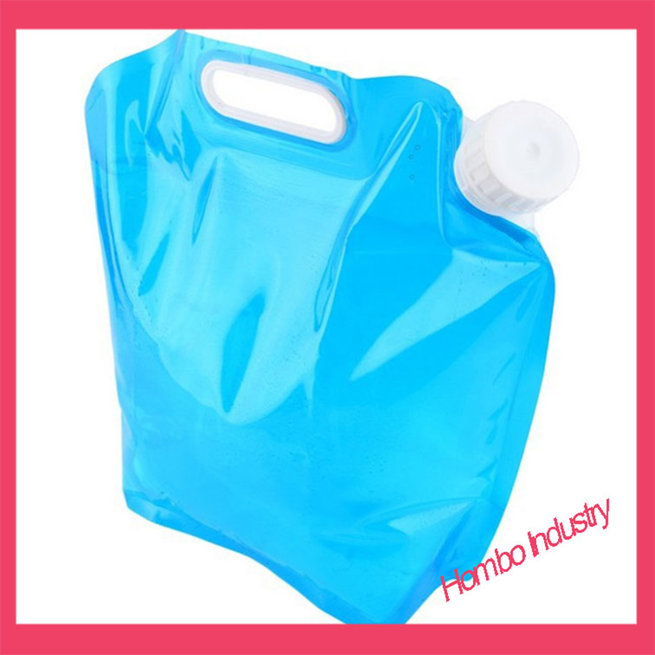 5L Food Grade Reusable Foldable Camping Drinking Plastic Water Bag