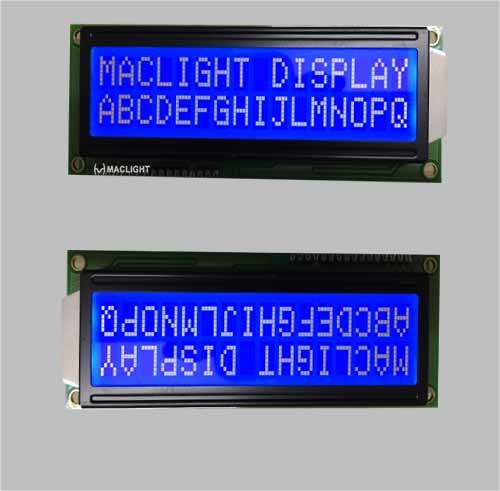 20X2 Character LCD Module Display with Blue Background