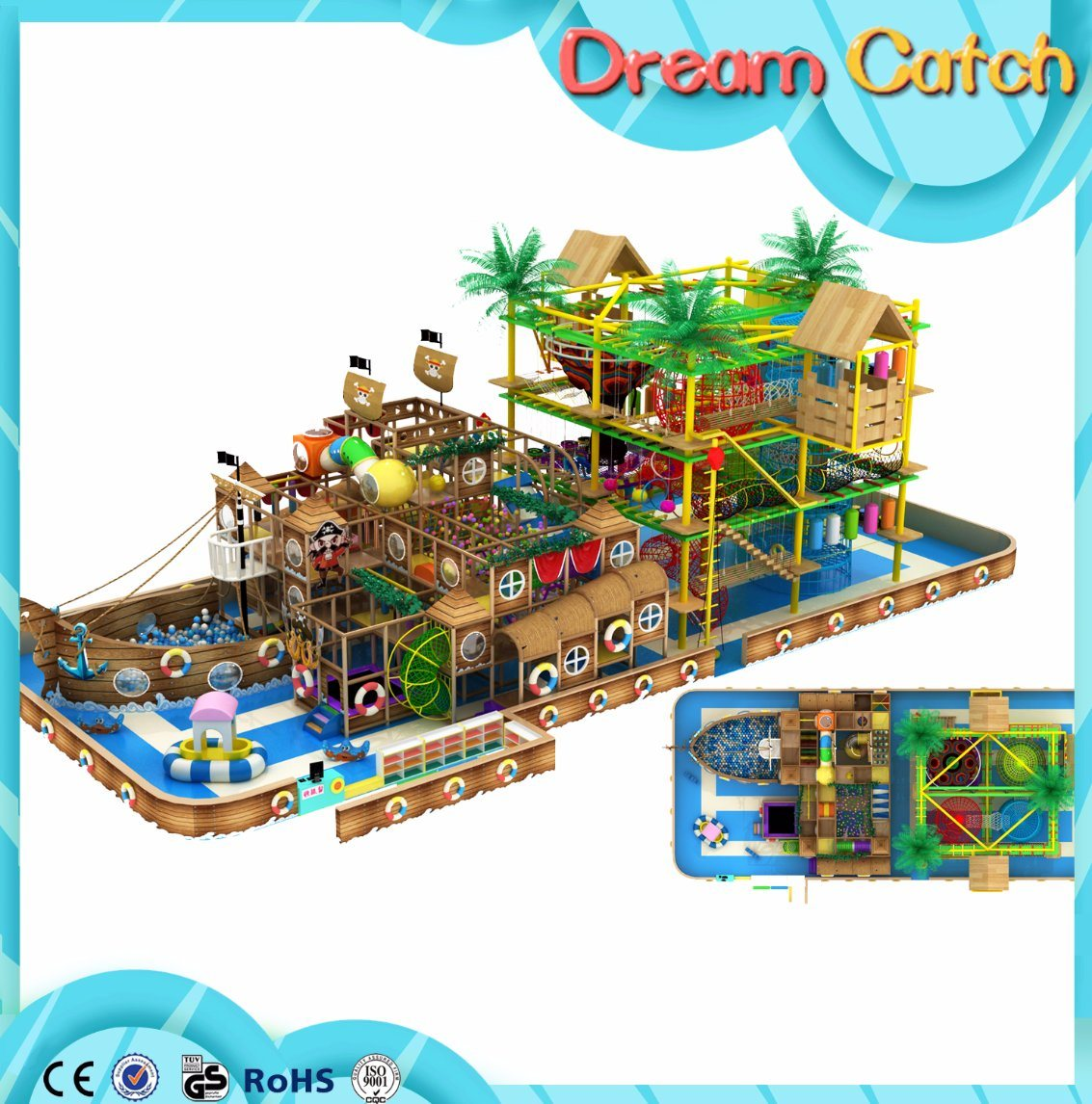 Hot Sale Cheap Large Commercial Used Playground for Kids and Adults
