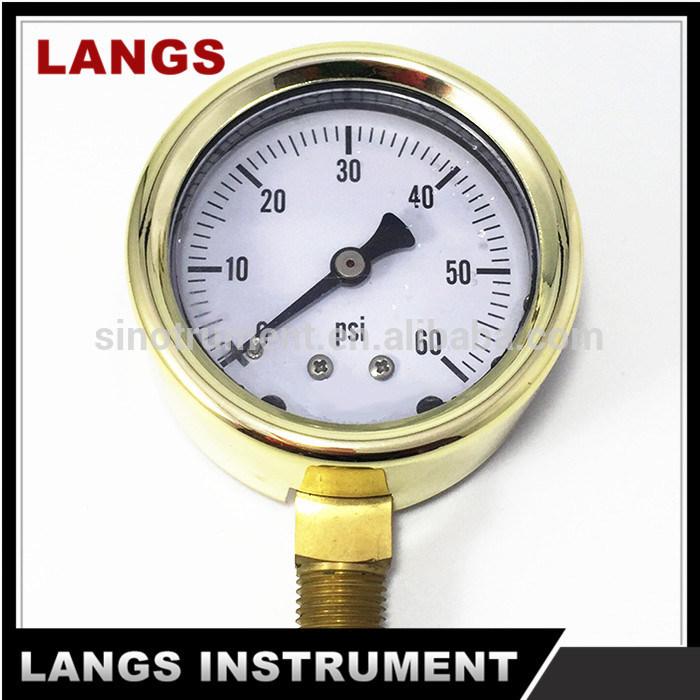 "021 2.5"" Cast Brass Pressure Gauge"