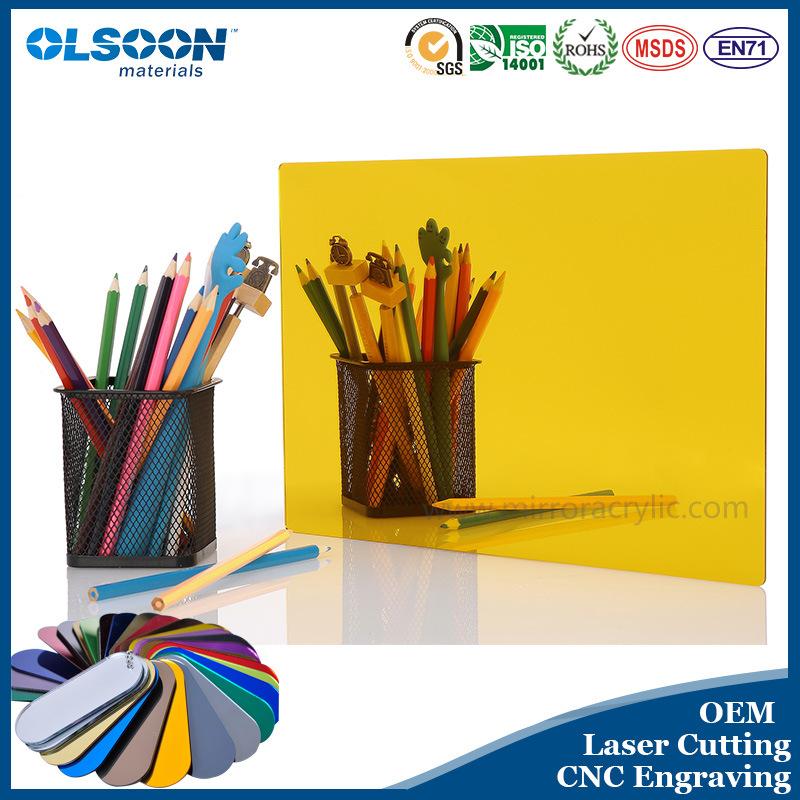 Olsoon Customized Color Thickness PMMA Acrylic Mirror Sheet