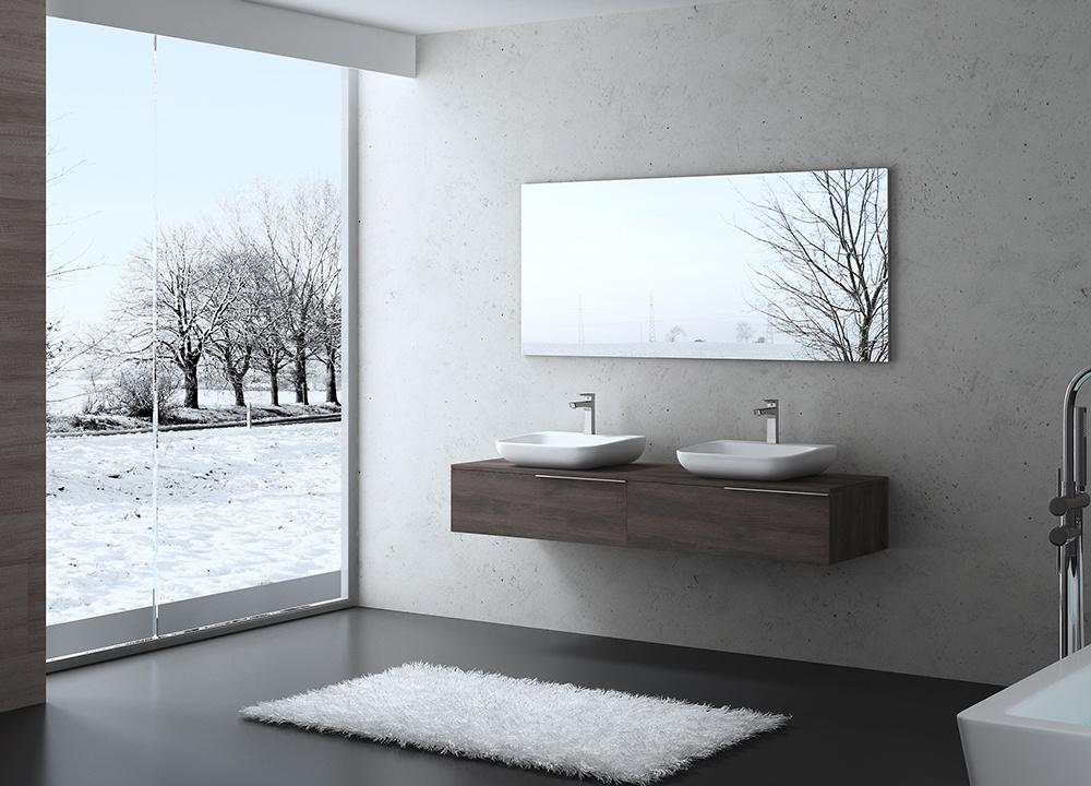 Modern Furniture Wall Mounted MDF Bathroom Cabinet