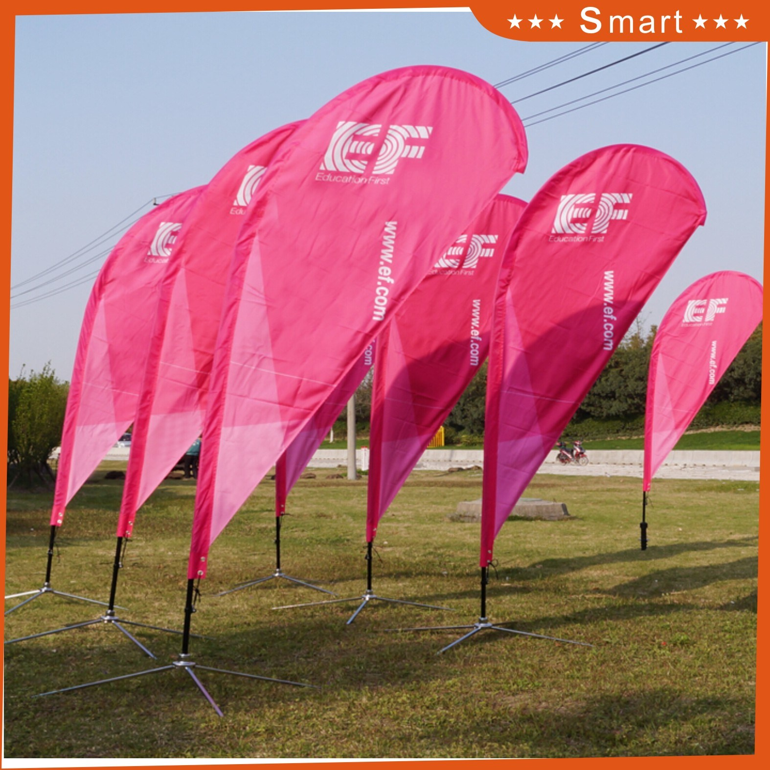 Customized Teardrop Feather Flag for Outdoor Advertising