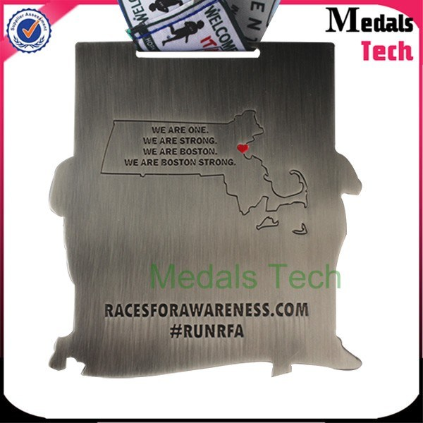 Custom Zinc Alloy Marathon Running Sport Ranked Race Award Medals