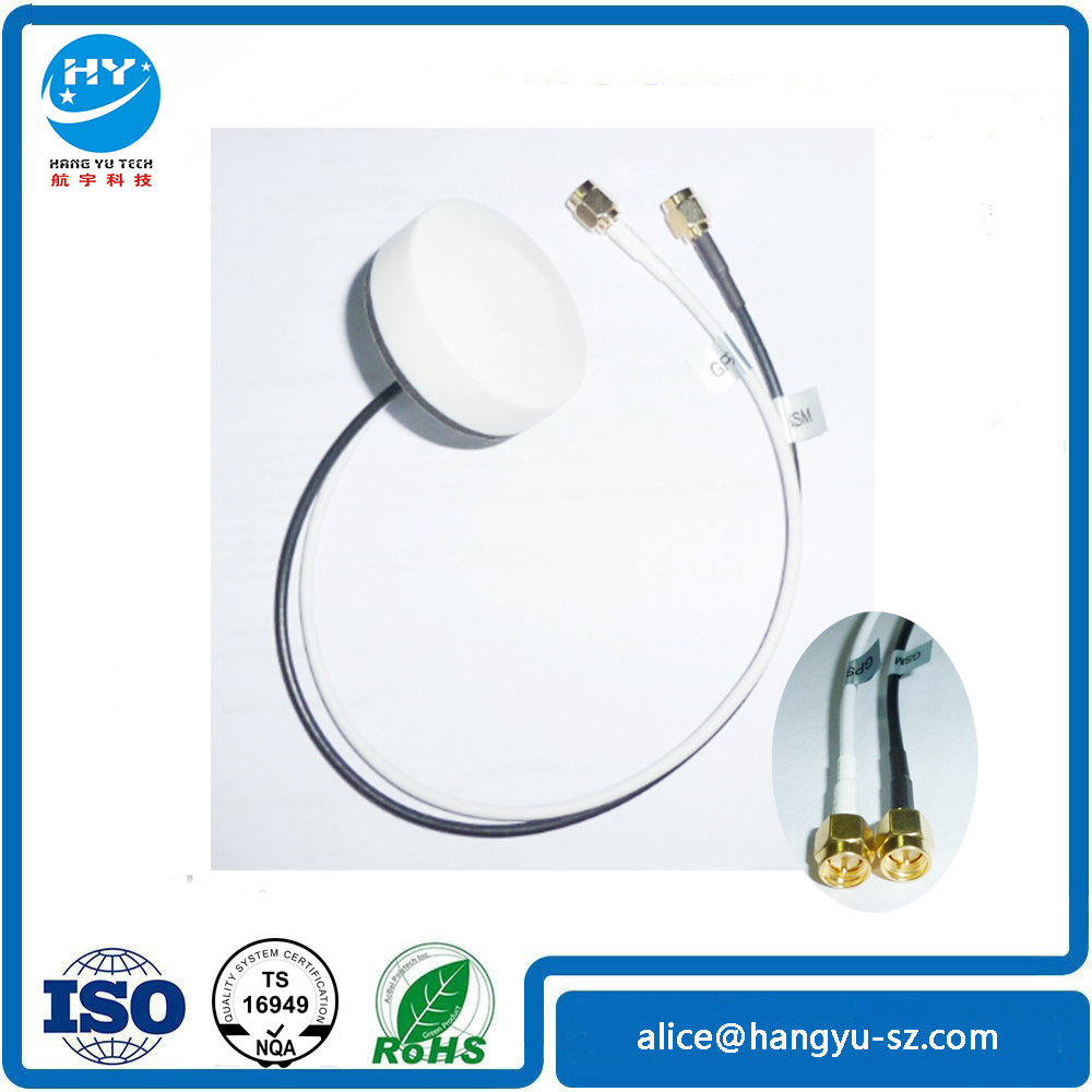 GPS+GSM Dual Band Combination Antenna 30m Copper Wire SMA Straight Head (can be customized)